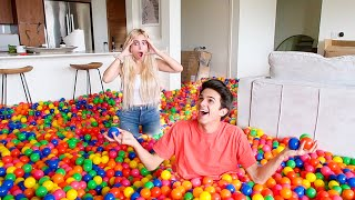 "drop this video a LIKE if you would want a ball pit in your house!! I'll come over and deliver them hahah :) wanna be next weeks shoutout!? like this video and comment !   Special guests IN THIS VIDEO: Rick Smith Jr. (Magician/Card Thrower) YouTube: @Rick Smith, Jr.  Follow him on IG too: https://www.instagram.com/ricksmithjr Buy Card Throwing cards here: https://www.ricksmithjr.com/magic-store/  John (Mason's surprise) IG: @johnlferguson Sam (Mason's surprise) IG: @little.rep   Follow the Gang!!  Eva: @MyLifeAsEva  Ben Azelart -  @Ben Azelart  Lexi Hensler - Instagram: @Lexi Hensler   Stokes Twins: @Stokes Twins  Lexi Rivera - Instagram: @Alexa Rivera   Jeremy Hutchins:  @Jeremy Hutchins  Andrew Davila - Instagram: @Andrew Davila  Mason Fulp: @masonfulp  Davey Simmons: @DaveySimstv   hang out with me on social media: SnapChat, Add me: TheBrentRivera Instagram: @BrentRivera Twitter: @BrentRivera Facebook: @BrentRivera TikTok: @BrentRivera  I have all rights to use this audio in this video according to Final Cut Pro's/YouTube's ""terms of use."""