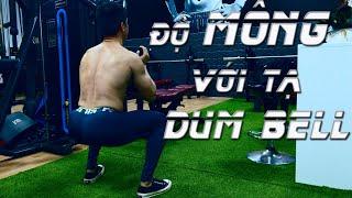 Tập MÔNG ĐÙI Ngay Tại Nhà với Tạ Đơn | DUMBELL LEG WORKOUT AT HOME | Nguyễn Hoàng Gym