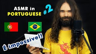 My second ASMR video in Portuguese (Sussurros, Português, Para Relaxar, a few triggers)