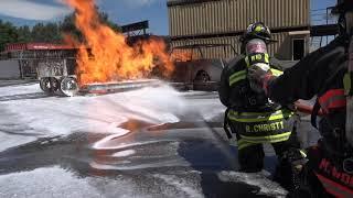 West Metro Fire Rescue: Firefighting with foam