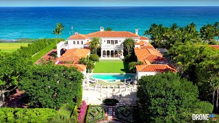$135 Million - Palm Beach Oceanfront Coquina Masterpiece - DroneHub
