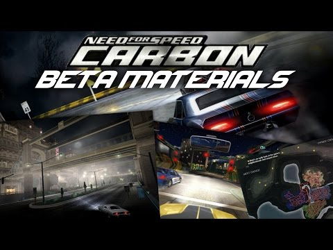 Need For Speed Carbon - Beta materials
