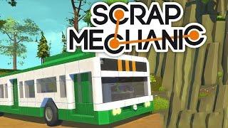 Строим троллейбус в Scrap Mechanic