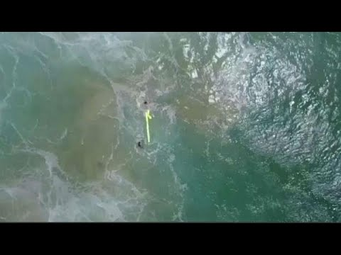 First drone rescue at sea