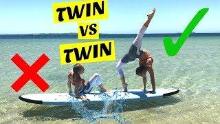 Yoga Challenge on a paddle board | Twin Vs Twin