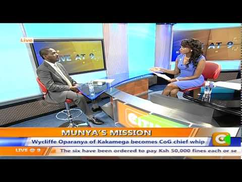 Live at 9 interview with Meru Governor Peter Munya on his vision for CoG