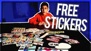 UNBOXING FREE STICKERS PART 3!!!! (with Links)