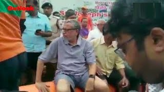 Bihar Dy CM Sushil Modi, Stranded Due to Floods, Rescued On Boat