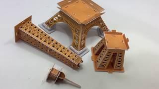 DIY Miniature Eiffel Tower ~ Ling Le Si 3D Puzzle