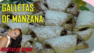 GALLETAS DE MANZANA ENROLLADAS | recetas de cocina faciles rapidas y economicas de hacer - comidas