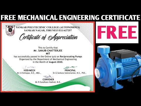 Mechanical engineering Courses With Certificate 2020 | Online ...
