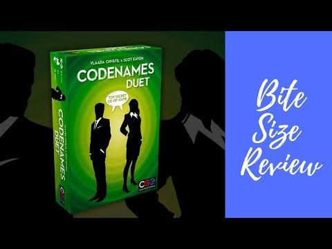 BGNews 2 min review: Codenames: Duet