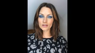 Retro Gradient Blue Eye Makeup Tutorial