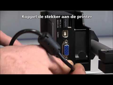 CM 100: Printer aansluiten