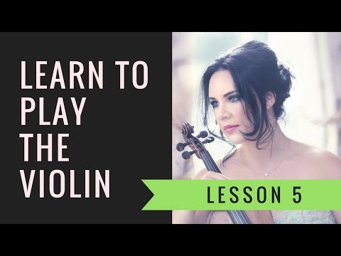 Learn the VIOLIN ONLINE | Lesson 5/30 - Learning the open string notes