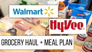 Went in for Eggs and Spent $150 // Walmart + HyVee Grocery Haul and Meal Plan // Dec 7 2018