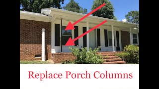 Replace Porch Columns (Porch Posts / Porch Columns / Use Post Jack DIY / How To Remove And Replace)