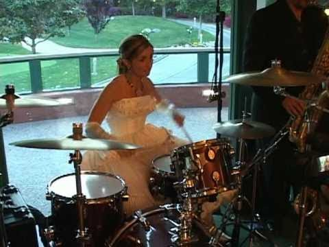 If you marry a drummer, this kind of thing can be happen Apparently.