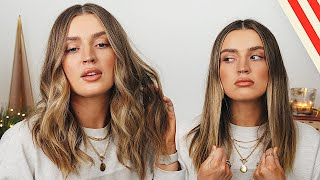 The EASIEST Loose Beachy Waves Hair Tutorial 🌊