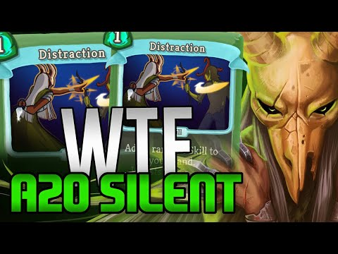 WTF 2 DISTRACTIONS?! 0 Distractions? | Ascension 20 Silent Run | Slay the Spire