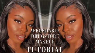 AFFORDABLE DRUGSTORE MAKEUP +Textured Skin Friendly || For Dark Skin WOC || Lexsa Marie