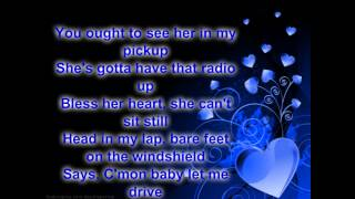 SHES MY KINDA CRAZY BRANTLEY GILBERT (lyrics on screen and in description)
