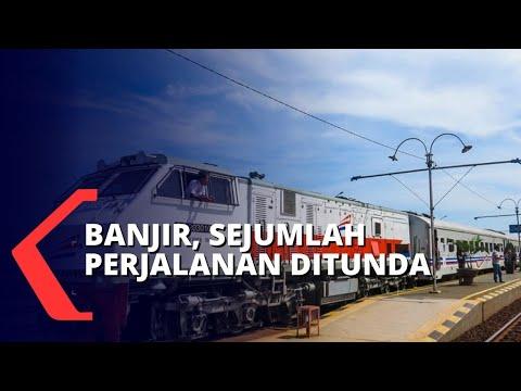 Gara-gara Banjir, Sejumlah Perjalanan Kereta dari Jakarta dan Sebaliknya Dibatalkan