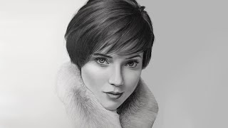 A Realistic Portrait Drawing Time-lapse Of A Beautiful Girl | Realistic Pencil Drawing
