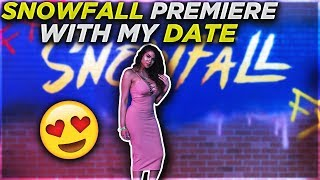 SNOWFALL PREMIERE WITH MY DATE 😍