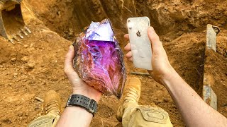 Found Super Rare Amethyst Crystals While Digging in Private Mine! (Unbelievable Find)