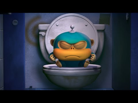 Обезьянки из космоса (Alien Monkeys) - Ванная комната (5 серия) Самый смешной прикольный мультик