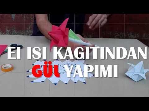 Kağıttan Gül Nasıl Yapılır #MakeRose
