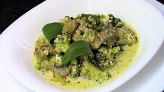 Индейка с грибами и брокколи - очень вкусное горячее блюдо.