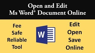 Edit word document online for free with most reliable, safe and secure tool