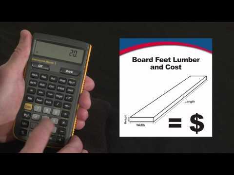 Construction Master 5 - Board Feet Lumber Cost