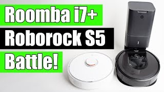 Roomba i7+ vs Roborock S5 (S50) - Robot Vacuum Battle!