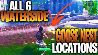 """""""Search Waterside Goose Nests"""" – ALL 6 GOOSE NEST LOCATIONS (14 Days Of Fortnite Challenges)"""