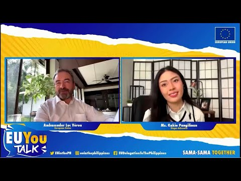 Watch it NOW: EU Ambassador Luc Véron and Kakie Pangilinan in the first #EUYouTalk episode