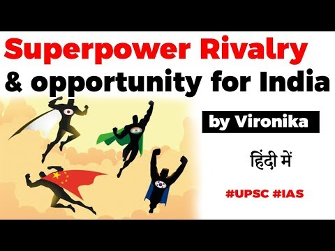 USA China Superpower Rivalry explained, How India can benefit from it? Current Affairs 2020 #UPSC