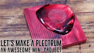 The Plectrum - How To Make A Custom Kirinite Guitar Pick By Hand