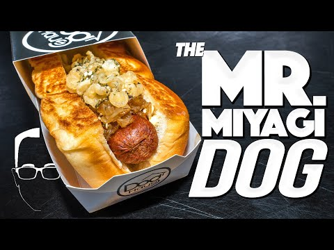 MAKING MY NEW CUSTOM HOT DOG (THE MR. MIYAGI) YOU CAN ORDER RIGHT NOW    SAM THE COOKING GUY