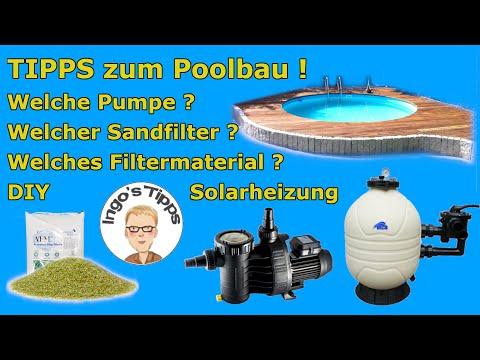 Pool selber bauen welcher Sandfilter Pumpe Filtermaterial ist richtig ? Tipps zum Bau   IngosTipps