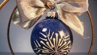 Glass Snowflake Ornament ~ Featuring Miriam Joy