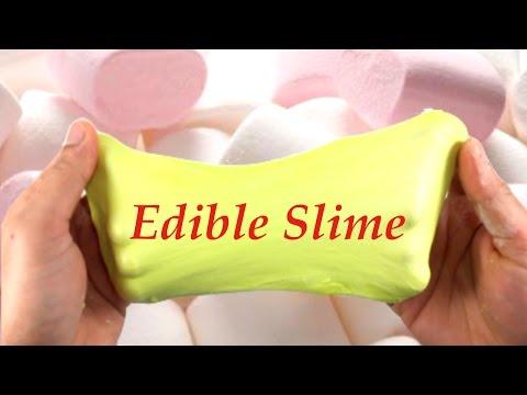DIY Edible Marshmallow Slime Without Glue ,Baking Soda or Borax!! Easy Slime Tutorial