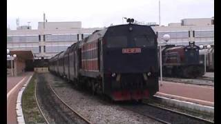 preview picture of video 'Tunisia - SNCFT 060-DP-150 departs Tunis Ville with 15:10 Tunis - Gardimaou'