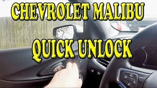 Chevrolet Malibu Quick Unlock Feature you may not know about