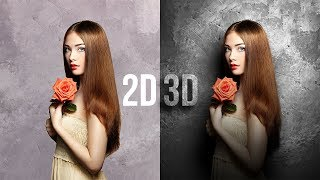 Convert Flat 2D to Real 3D in Photoshop!