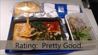 United Airlines Food economy class
