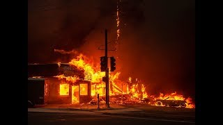 Family Driving Thru The Deadly CampFire, California Malibu Paradise And Buttecounty