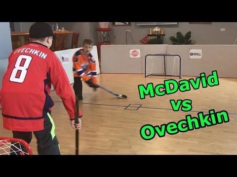 Kids HocKey Knee Hockey Must Watch To END Amazing Battle Carter McDavid v Tyler Ovechkin